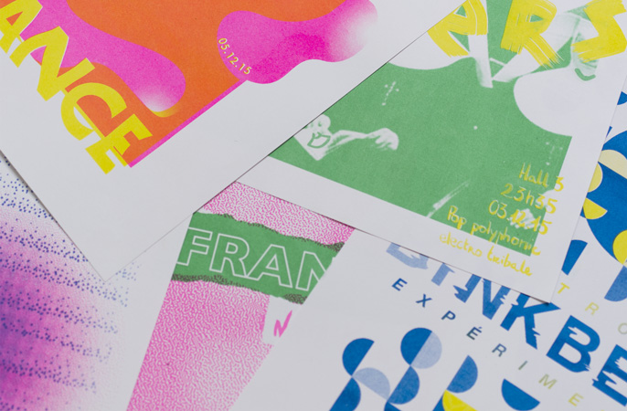 workshop super terrain creation affiches concert risographie context transmusicales Rennes